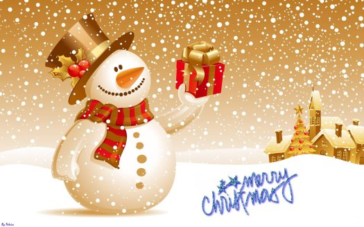 Snowman-Wishes-You-Merry-Christmas